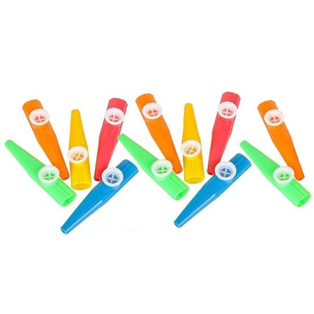 Plastic Kazoo – 12 Pack Assorted Colors - for Birthday Gift, Party Favor Bags, Goody Bag Stuffers.](Plastic Kazoos)