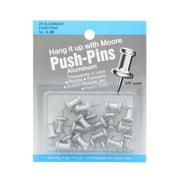 "Moore Push-Pins, Aluminum, 3/8"", 20/Pkg."