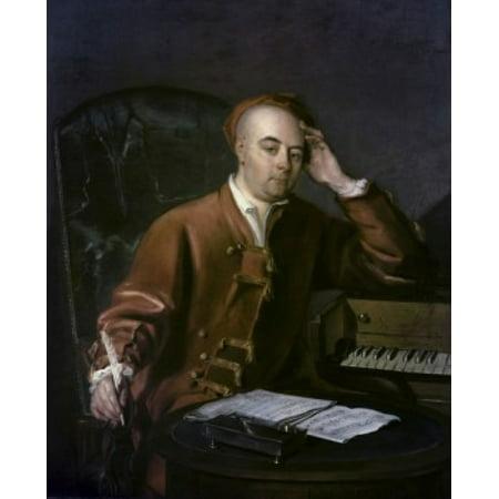 The Composer Handel Philippe Mercier (1689-1760French) Canvas Art - Philippe Mercier (18 x 24)