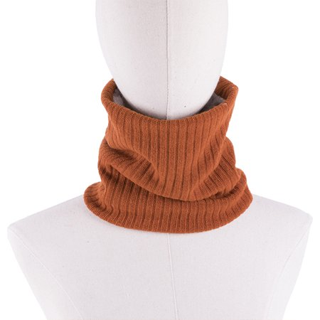 Men Women Ribbed Knit Ring Scarves Furry Faux Fur Solid Color Winter Tube Snood Scarf Neck Warmer Neckerchief