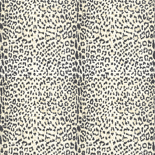 Blue Mountain Cheetah Print Wallcovering, Black/Beige