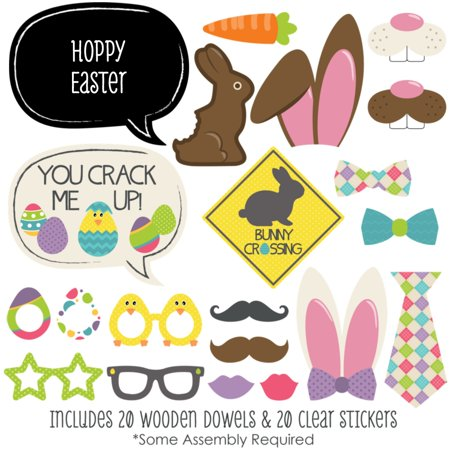 Hippity Hoppity - Easter Photo Booth Props Kit - 20 Count](Easter Photo Props)