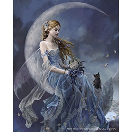 NENE THOMAS, Wind Moon Fairy with Cat STICKER - Licensed Original Artwork DECAL, 4