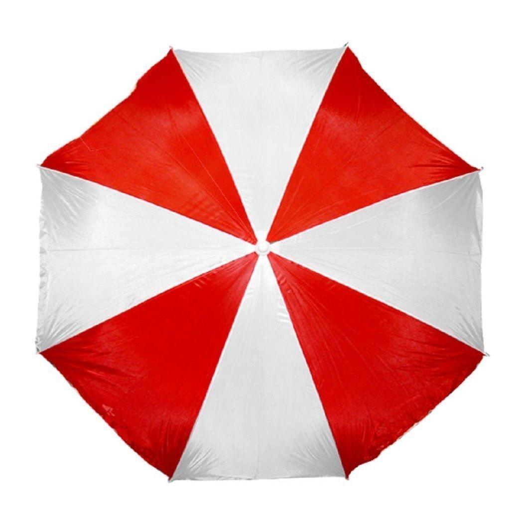 Beach Umbrella Large 6 Ft. Sun Shade  Patio + Portable Carrying Case Pole
