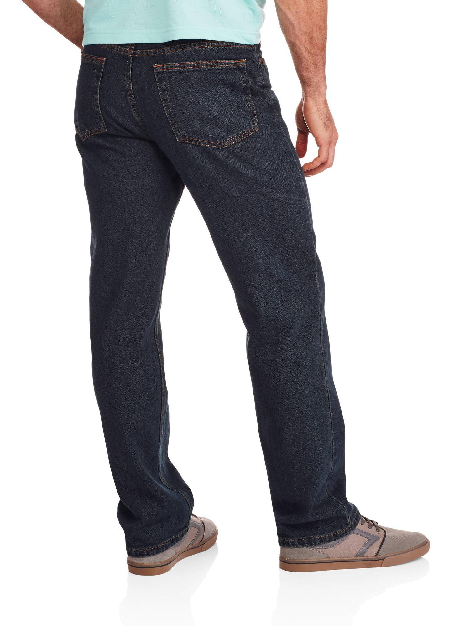 BRAND NEW MEN/'S FADED GLORY BLACK DENIM JEANS 38X34 CLASSIC FIT STRAIGHT LEG