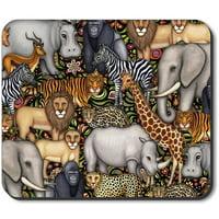 Art Plates Mouse Pad - Jungle Animals