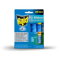 RAID Fly Ribbons, 10 count, Outdoor & Indoor Fly Traps, Effective for Kitchen & Food Prep Areas