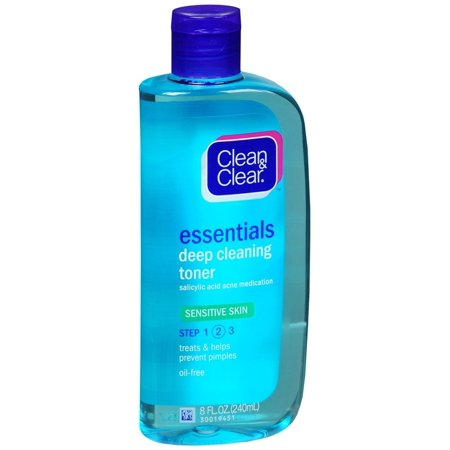 Sensitive Skin Toner - Essentials Deep Cleaning Toner, Sensitive Skin, Essentials Deep Cleaning Toner For Sensitive Skin Step 2 by Clean & Clear 8 oz Toner for.., By Clean & Clear