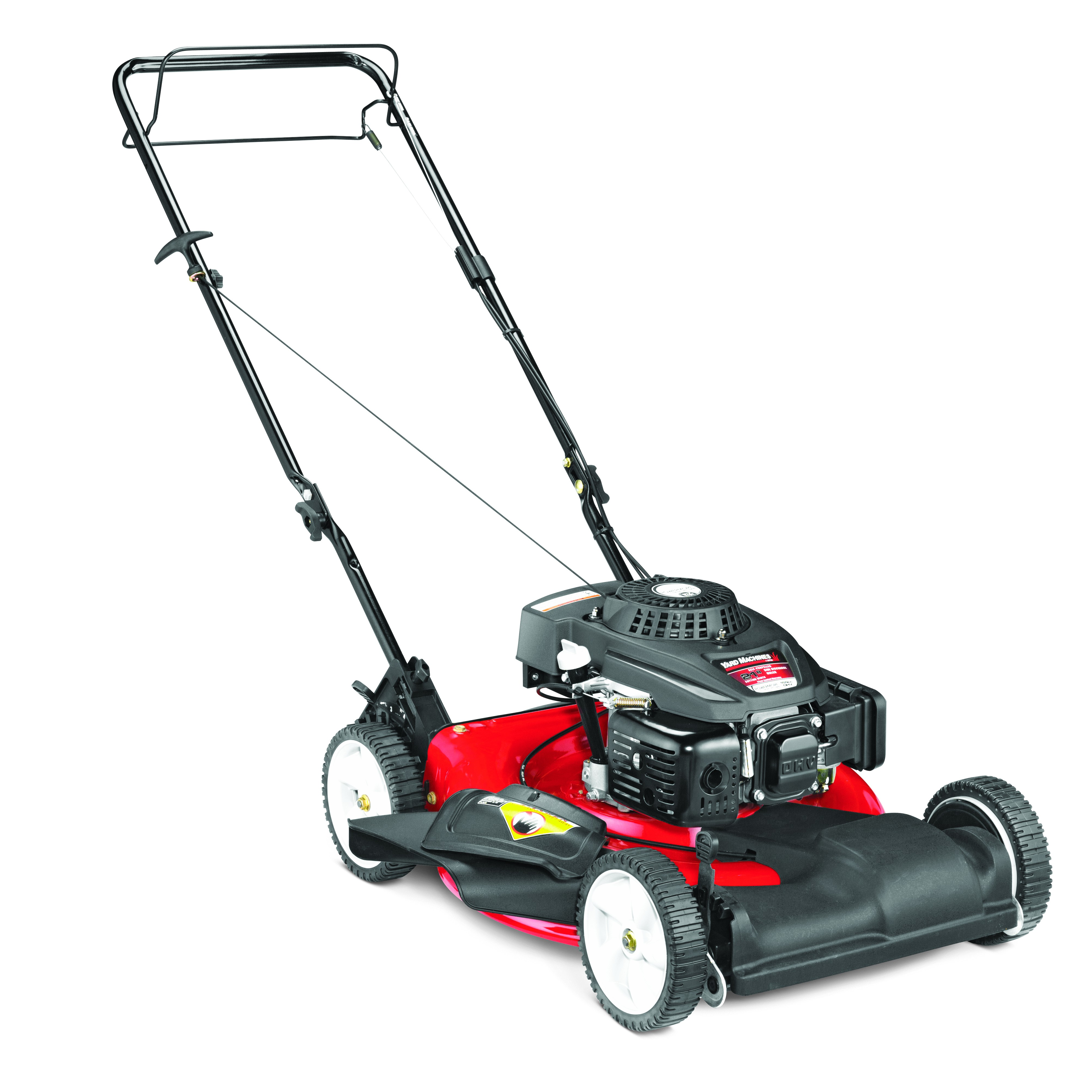 "Yard Machines 21"" Self Propelled Gas Push Mower with Side Discharge and Mulching"