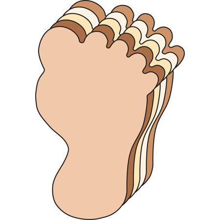 Large Multicultural Cut-Out - Foot