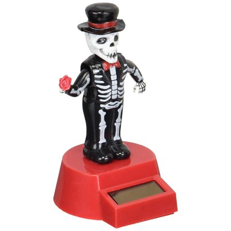 Fun and Cute Toys Halloween Solar Skeleton Groom Solar Powered Dancing Figure for Halloween or Over the Hill by Momentum Brands