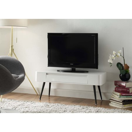 4D Concepts Black & White Console TV Stand with Drawer 4d Concepts Tv Stand