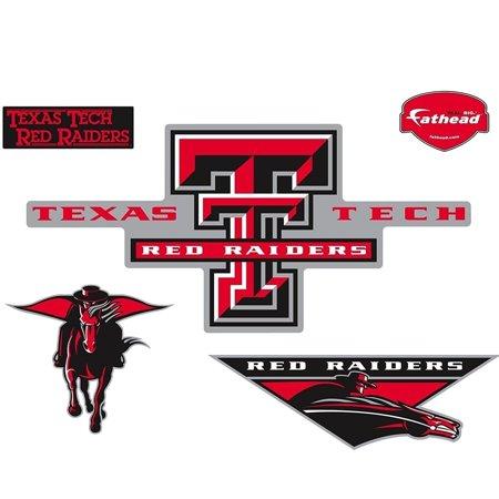 (Fathead Texas Tech Red Raiders Logo Wall Graphic Wall Vinyl)