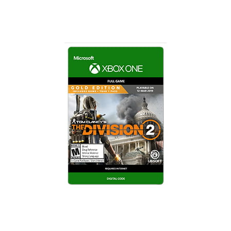 Tom Clancy's The Division 2 - GOLD EDITION, Ubisoft, Xbox One [Digital Download] (Halloween Division Games)
