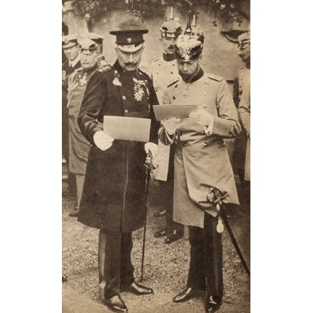 1936 Replica Sky King - King George V And Kaiser Wilhelm Ii Discussing Operation Orders In Germany In 1913 George V 1865 To 1936 King Of England And Emperor Of India Wilhelm Ii 1859 To 1941 German Emperor And King Of Prussia