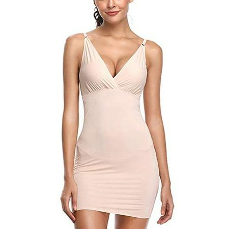LELINTA Full Slips for Women Under Dresses Shapewear Slimming Full Shaping Control Body Shaper Deep V