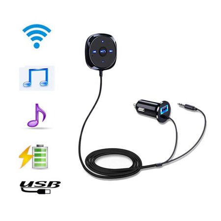 - EinCar Bluetooth Wireless Car Kit MP3 Player with 3.5mm Audio Cable for Handsfree Calling & Music USB Car Charger for Mobile Audio Devices