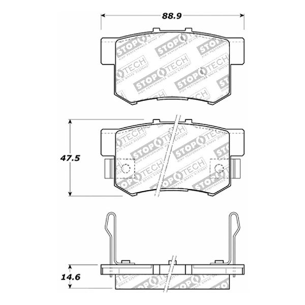 Rides2Racers StopTech Street Brake Pads 2004-2008 Acura