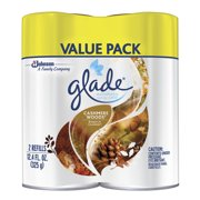 Glade Automatic Spray Air Freshener Refill, Cashmere Woods , 2 count, 12.4 Ounces