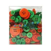Buttons Galore Button Tote 3.5oz Green & Orange
