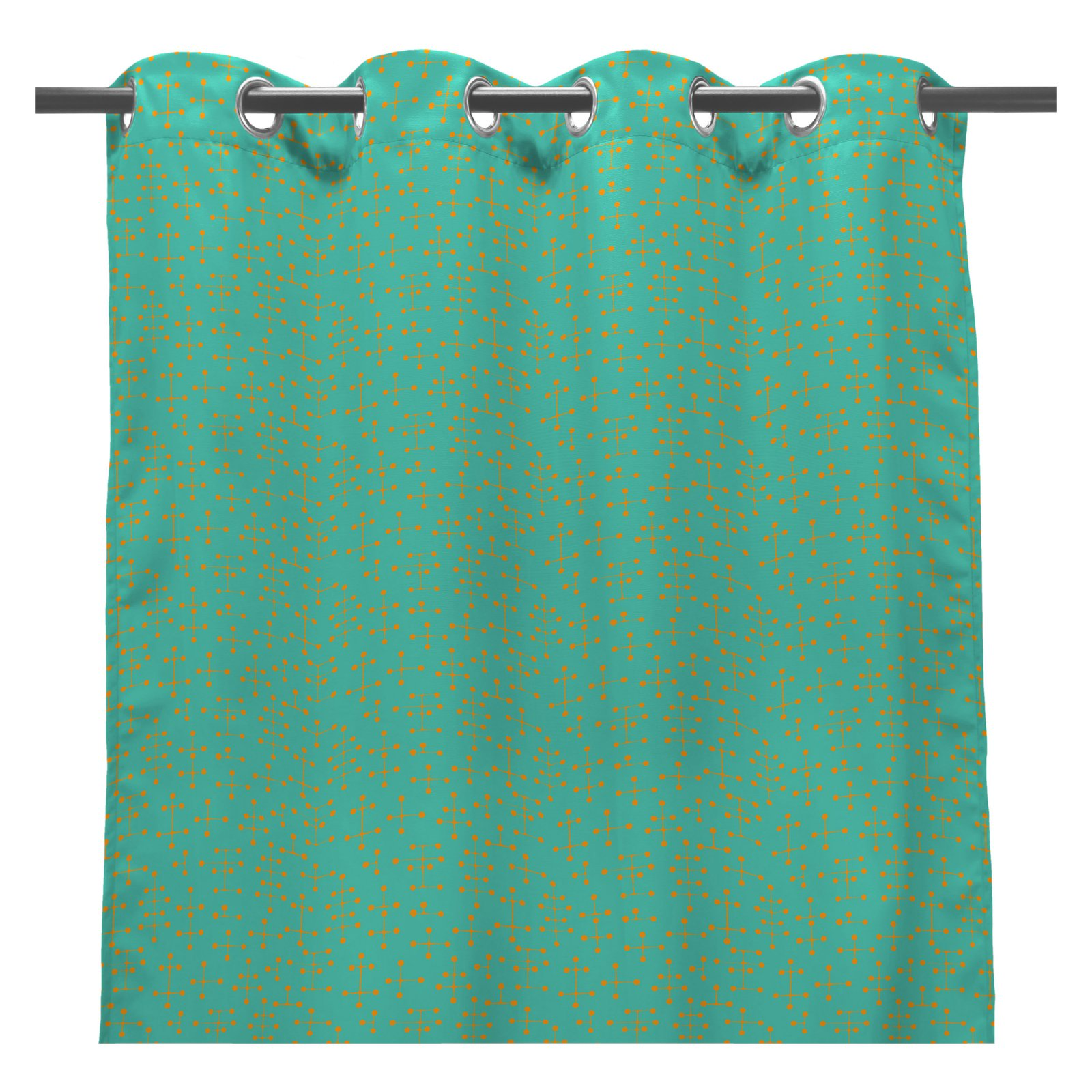 Coral Coast Mid-Century Modern 84L x 50W in. Outdoor Curtain Panel