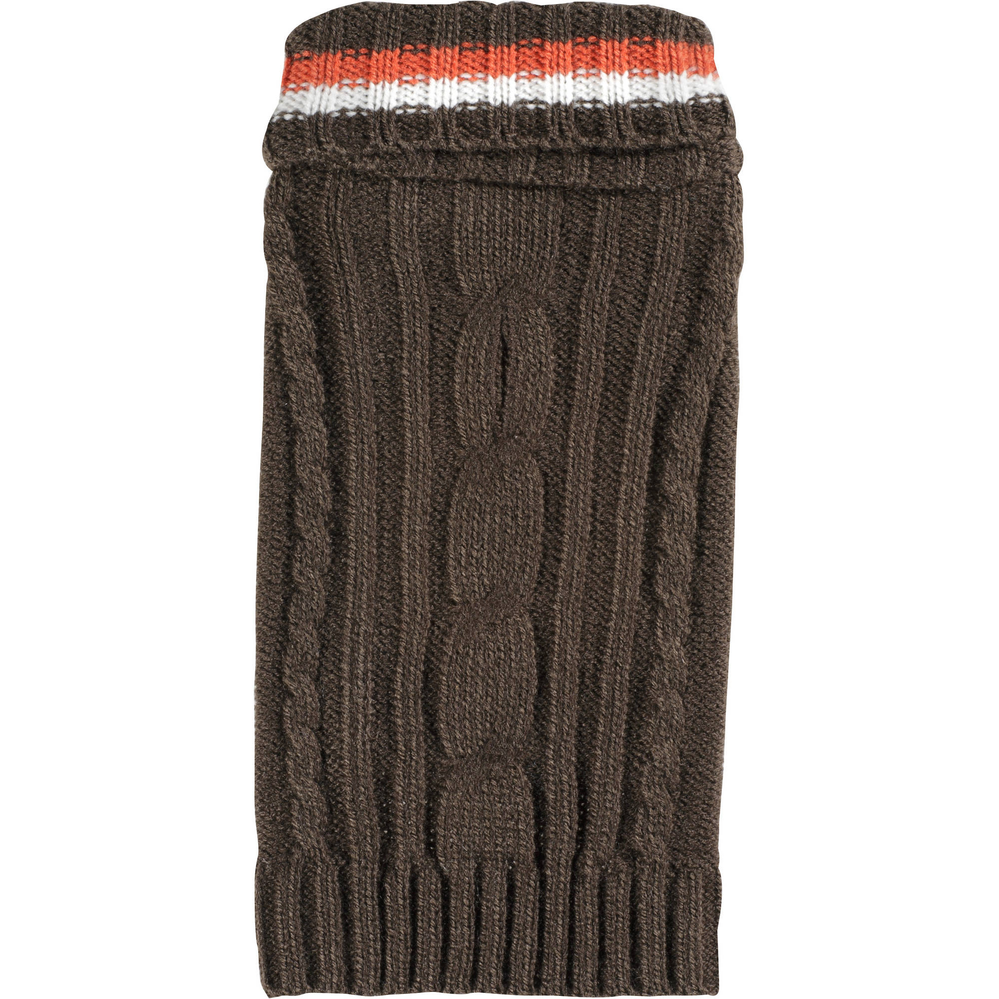 Cayre Group Solid Center Cable Turtleneck Dog Sweater, Coffee House, Multiple Sizes Available