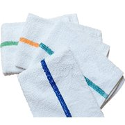 GHP Set of 48 White 100% Cotton 16x19 Kitchen Home Cleaning Bar Mops Towels