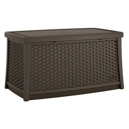 Suncast Elements Resin Patio Storage Coffee Table, Java, BMDB3010 ()