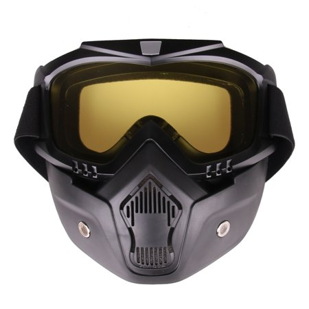 Face Billet - Classic Style Tactical Mask Soft Bullet Dart Protective Mirror Face Mask for Nerf - Yellow