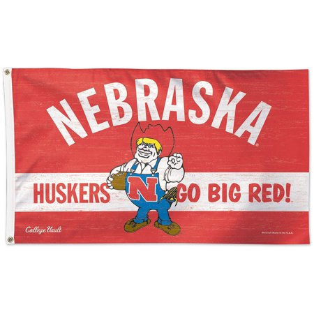 - Nebraska Cornhuskers Throwback Vintage 3' x 5' Pole Flag