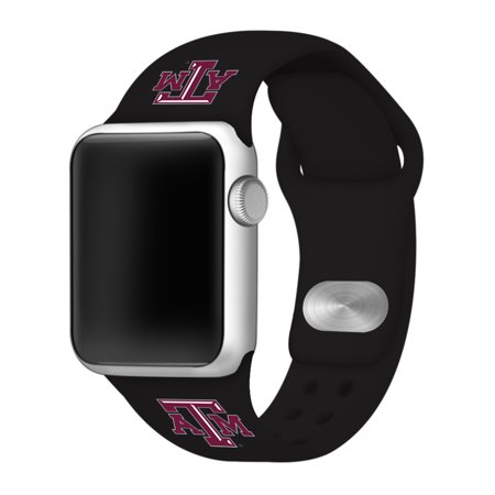 Texas A&M Aggies Sport Band Compatible with Apple Watch - 42mm BLK ()