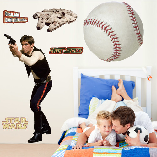 Wallhogs Star Wars Han Solo Cutout Wall Decal