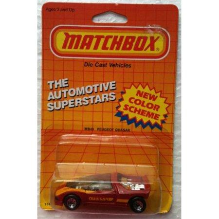 1987 Matchbox MB49 PEUGEOT QUASAR Automotive Superstars Series (1:64 Diecast Car)