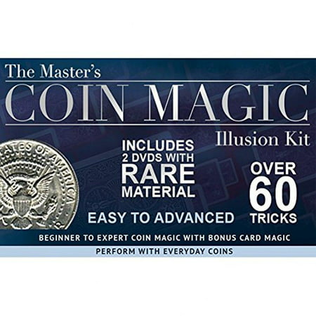 magic makers the master's coin magic illusion kit - 2 dvds with rare material and bonus card tricks - Magic Tricks With Coins