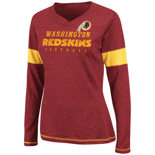 NFL - Washington Redskins Women's Jumpstart Heart II Crew Neck T-Shirt
