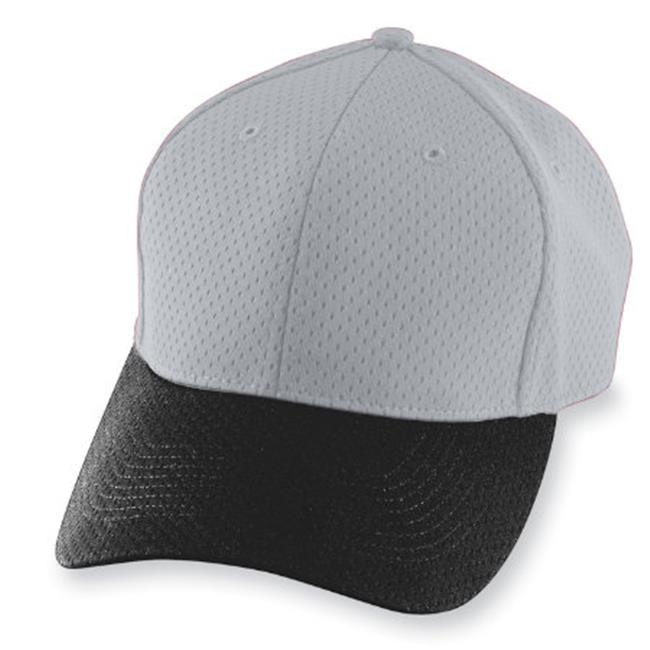 Augusta 6236A Youth Athletic Mesh Cap - Silver   Black 73544db7331f