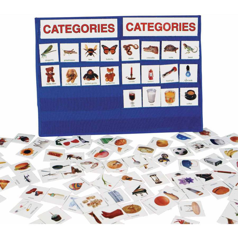 "Patch Tabletop Pocket Chart, Categories, 18"" x 13"""