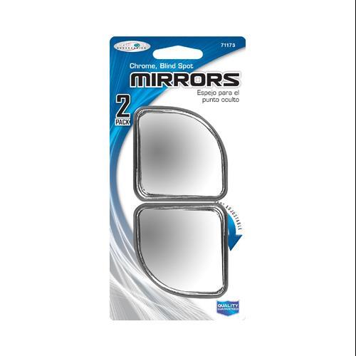 Custom Accessories Adjustable Blind Spot Mirror Pair, Chrome