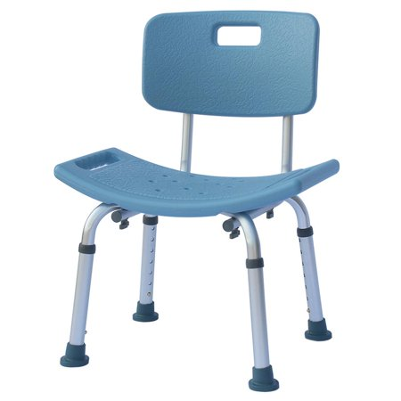 Ktaxon Adjustable Medical Shower Chair Bath Tub Seat Bench Stool with Large Removable Backrest ()