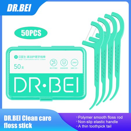 DR.BEI Flossers Toothpicks Cleaning Care Floss Pick Interdental Brush Tooth Cleaning - image 1 de 7