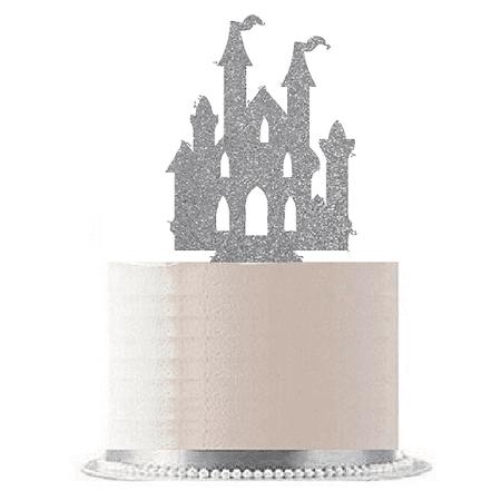 Silver Princess Castle Cake Decoration Topper (Castle Cake Topper)