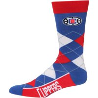 LA Clippers For Bare Feet Argyle Crew Socks - No Size