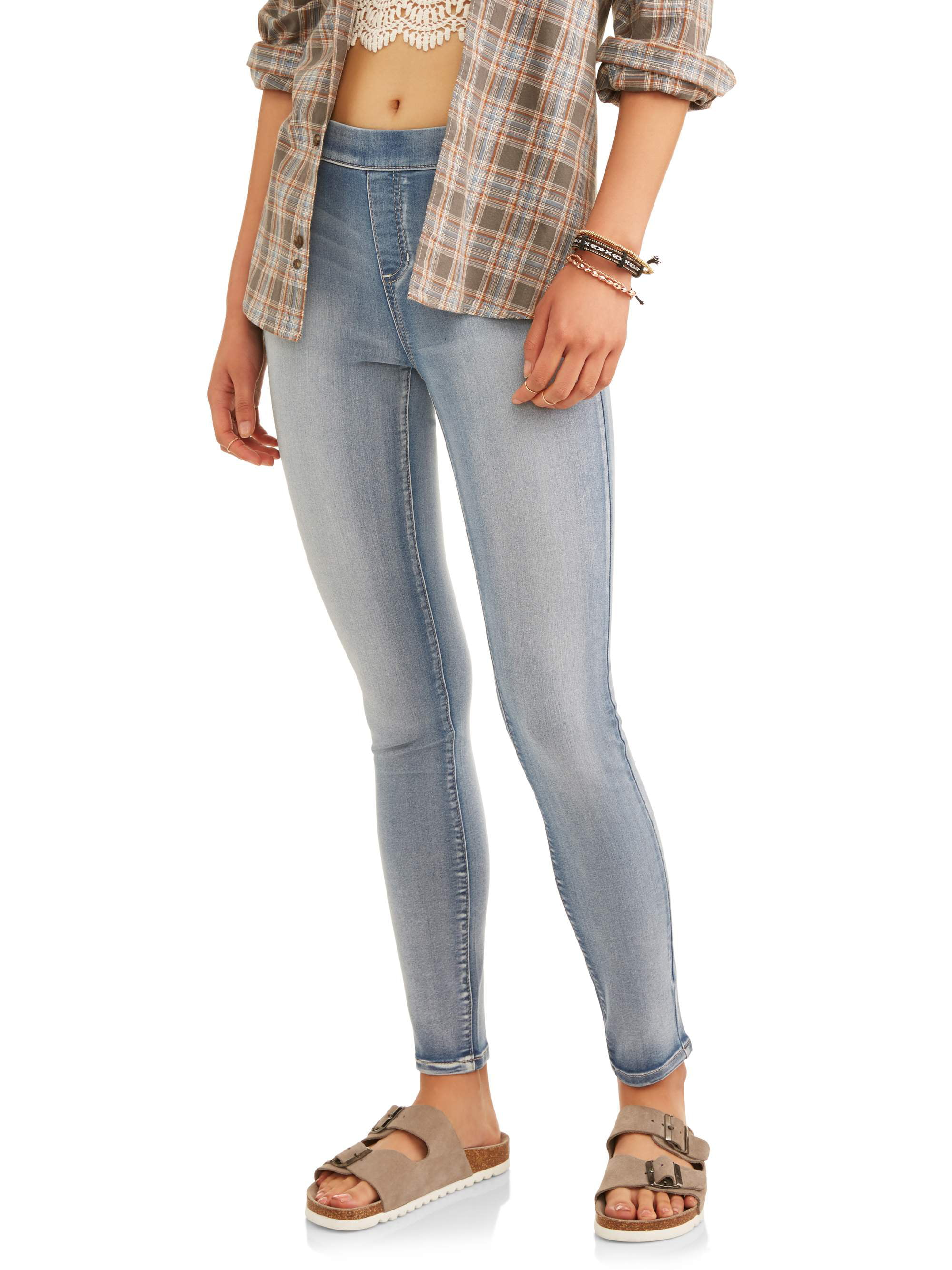 Juniors' Mid-Rise Pull-On Jeggings (Color & Denim Washes)