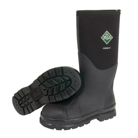 Muck Boot Chore Steel Toe Tall Rubber Work Boot (Men 13/ Women 14) (Rubber Uninsulated Steel Toe Boot)