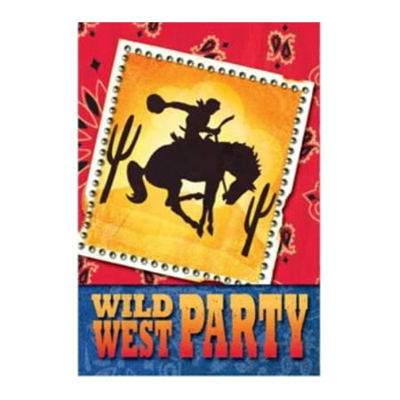 Cowboy Party Folded Invitations - Cowboy Invitations