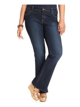 Lucky Brand Womens Plus Ginger Denim Classic-Rise Boot Cut Jeans