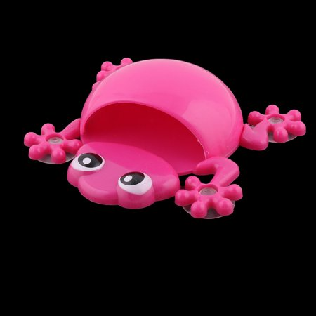 Home Plastic Gecko Shape Suction Cup Design Toothbrush Toothpaste Holder Fuchsia - image 2 of 4