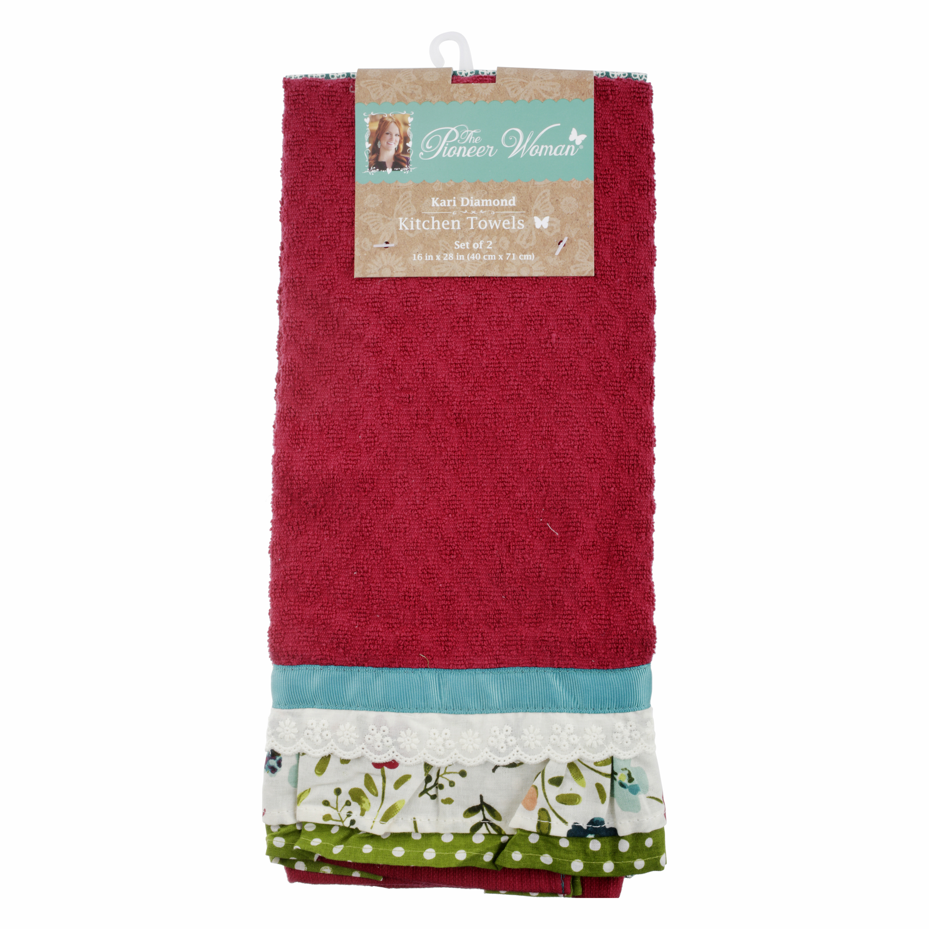 The Pioneer Woman Kari Diamond Kitchen Towel 2 Pack