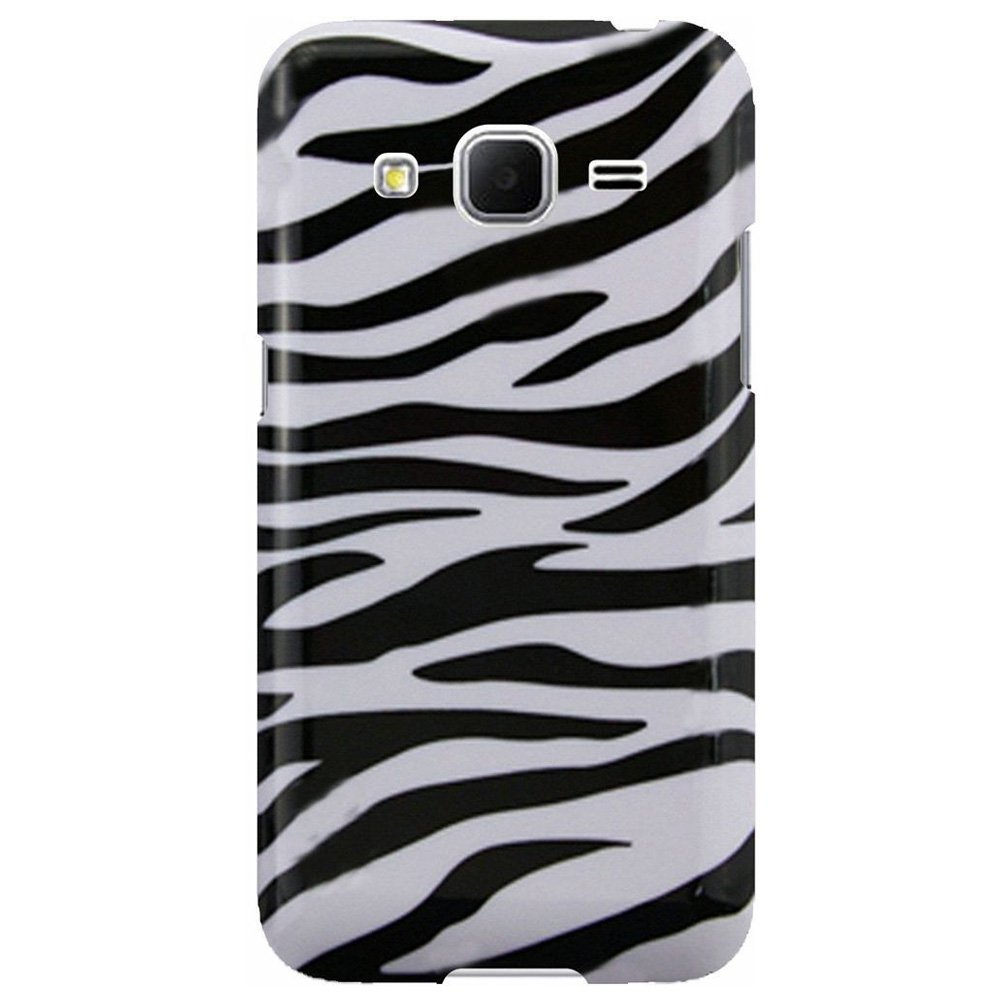 Designer Hard shell Case Back Cover Protector for Samsung GALAXY Core Prime G360, Samsung GALAXY Prevail LTE G360 - Zebra