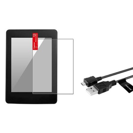 Insten Anti-Glare Screen Guard+Data Sync USB Cable For New Kindle Paperwhite